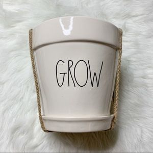 Rae Dunn GROW plant pot accent vase